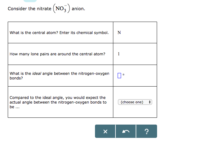Solved Consider The Nitrate No3 Anion What Is The C