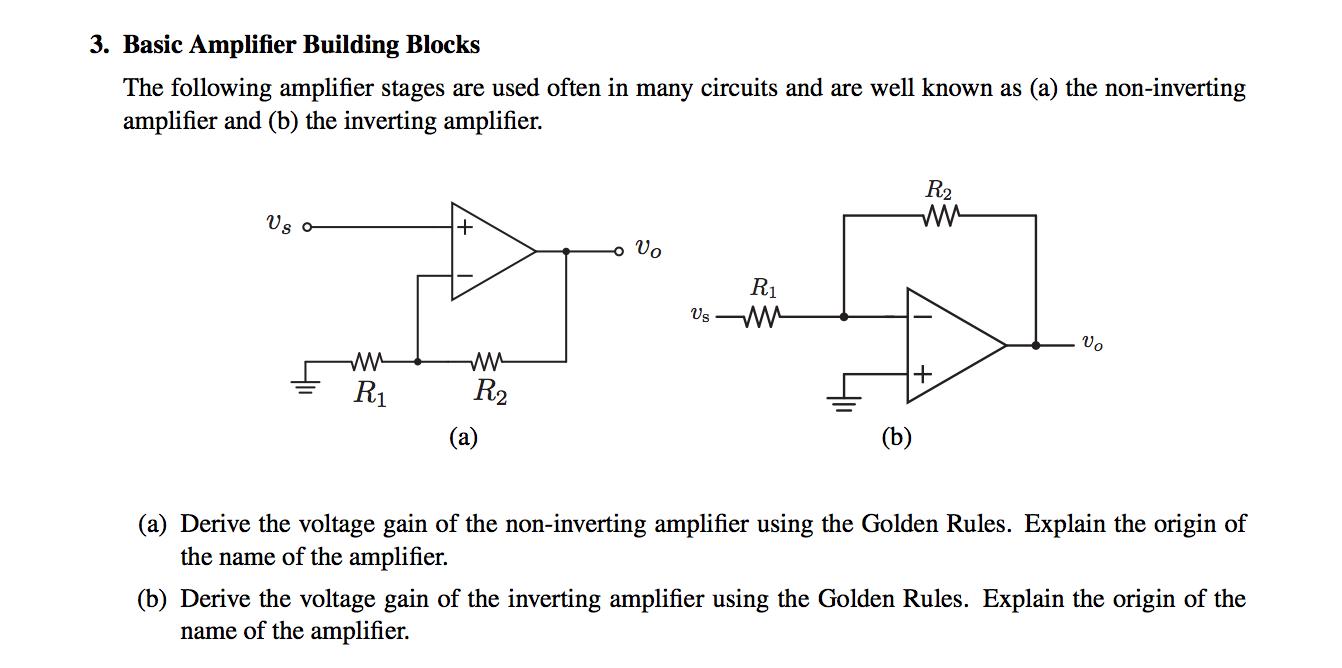 Basic Amplifier Building Blocks The following ampl
