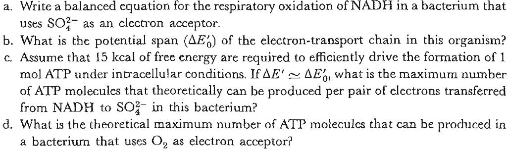 A. Write A Balanced Equation For The Respiratory O... | Chegg.com