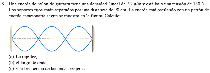 Solved A Nylon Guitar String Has A Linear Density Of 72