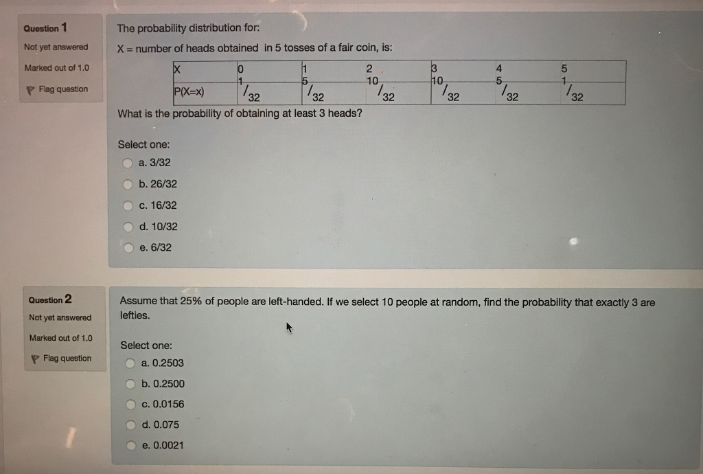 The probability distribution for X u003d number
