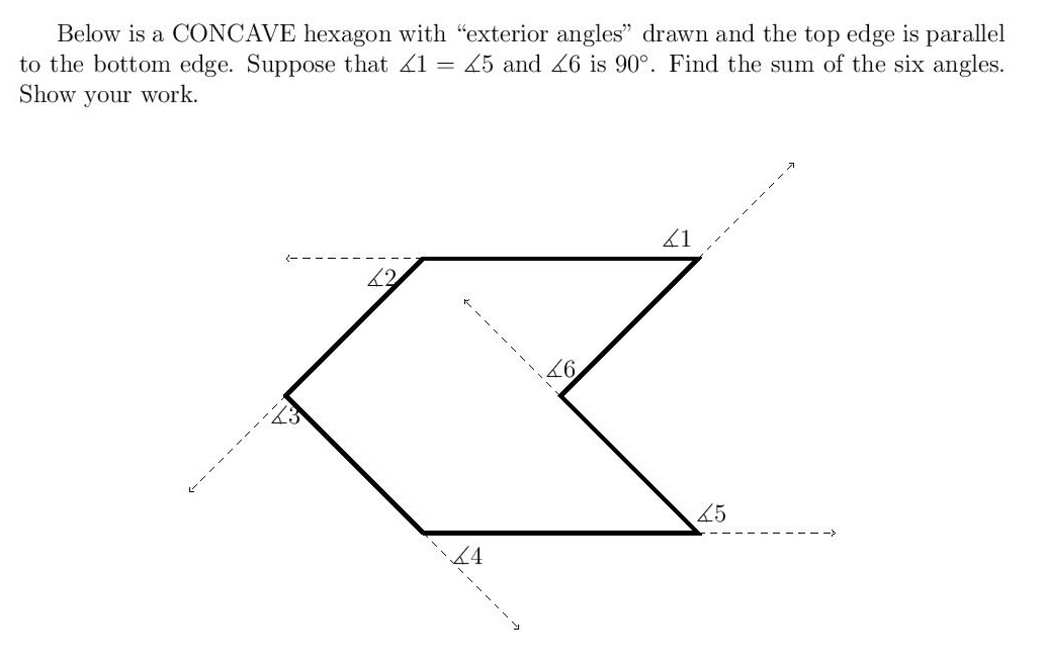 Below Is A CONCAVE Hexagon With