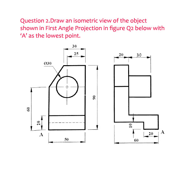 how to draw a semicircle in isometric view