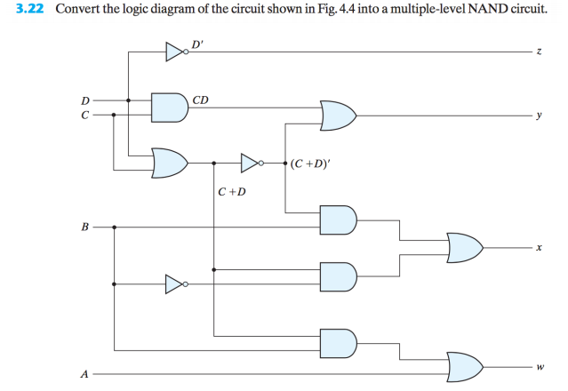 Solved: 3.22 Convert The Logic Diagram Of The Circuit Show ...