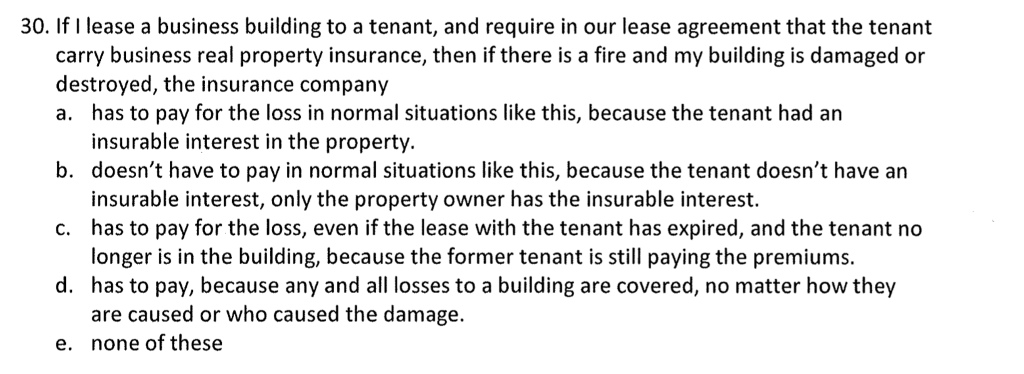 Solved 30 If I Lease A Business Building To A Tenant An