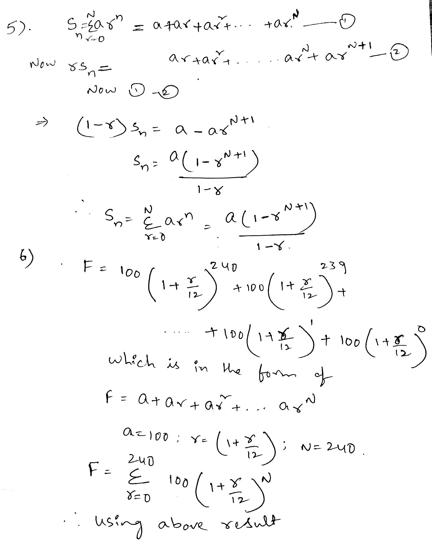 solved geometric sums i have solved problem 5 it is jus Geometric System Equation now n n 1 2 3 12 2 40
