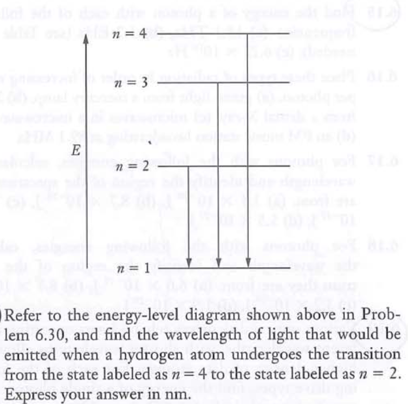 17 71 refer to the energy-level diagram shown above in prob- lem 6 30