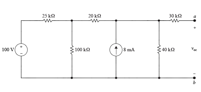 Solved Part A Find The Open Circuit Voltage The Circuit