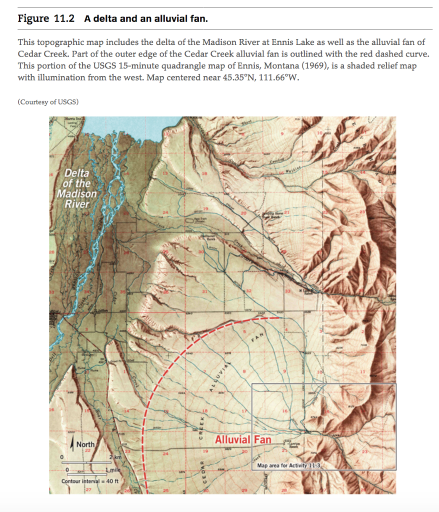 Madison River Montana Map.Solved Refer To The Portion Of The Ennis Montana 15 Min