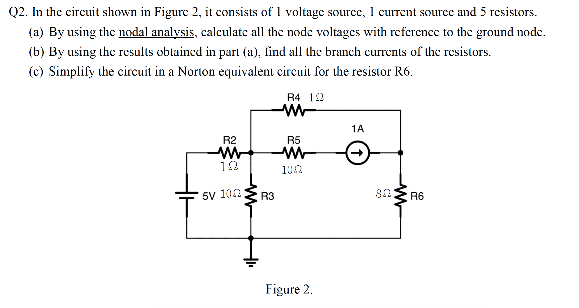 Solved In The Circuit Shown Figure 2 It Consists Of 1 Find Equivalent Resistance Rt Given Cheggcom