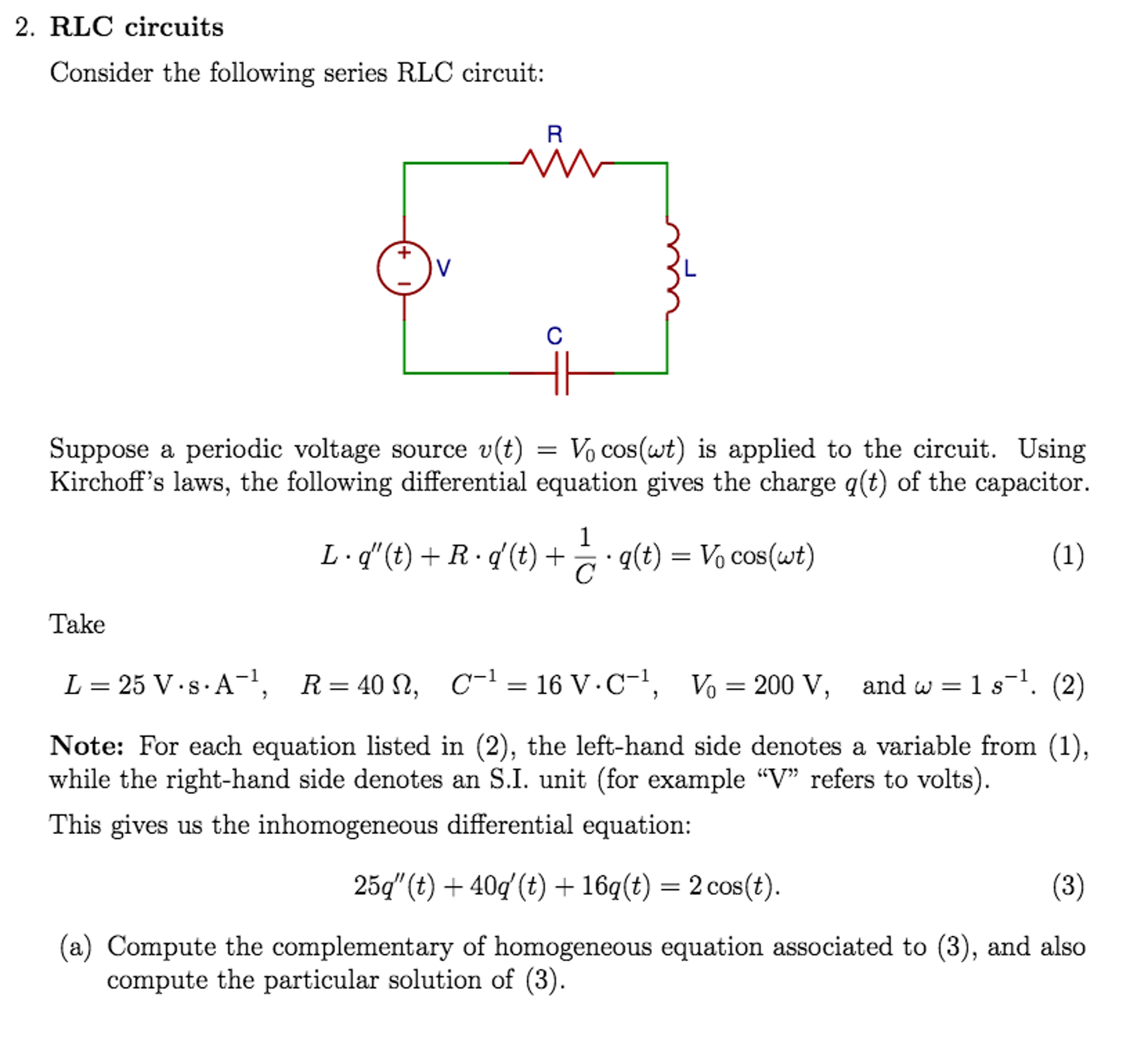 Rlc Series Circuit Questions Guide And Troubleshooting Of Wiring 3 Phase Electrical Phasor Diagram Schematic Solved 2 Circuits Consider The Following Chegg Com Viva Examples