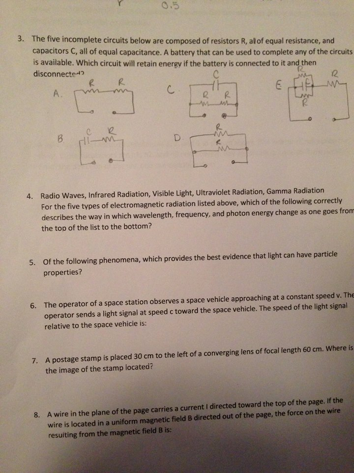 Solved: The Five Incomplete Circuit Below Are Composed Of