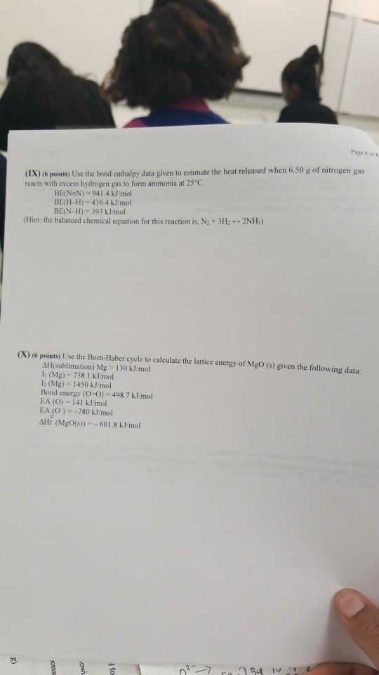 Page 6 of k IX 6 points