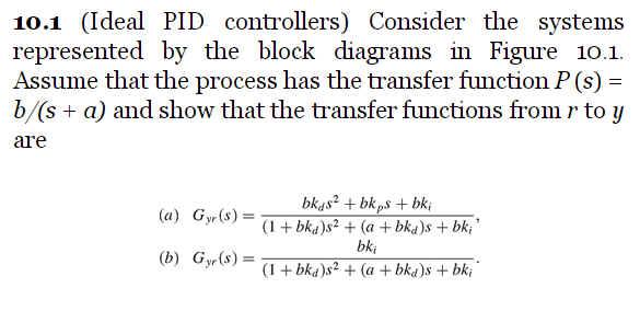 Solved Block Diagram Algebra Pick Some Parameters And C