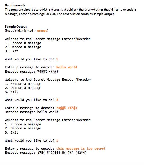 Solved: Python Programming - Cipher Program   Chegg com
