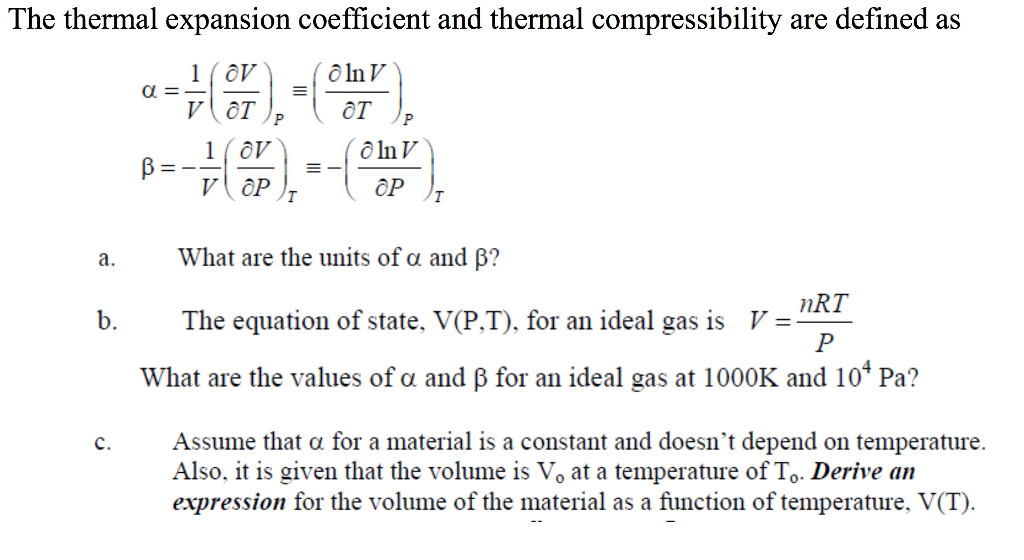 solved  the thermal expansion coefficient and thermal comp