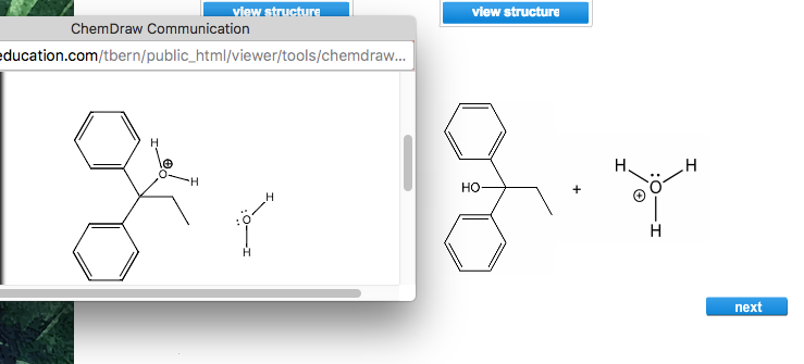 view structure ChemDraw Communication ducation.com/tbern/public_html/viewer/tools/chemdraw... HO next