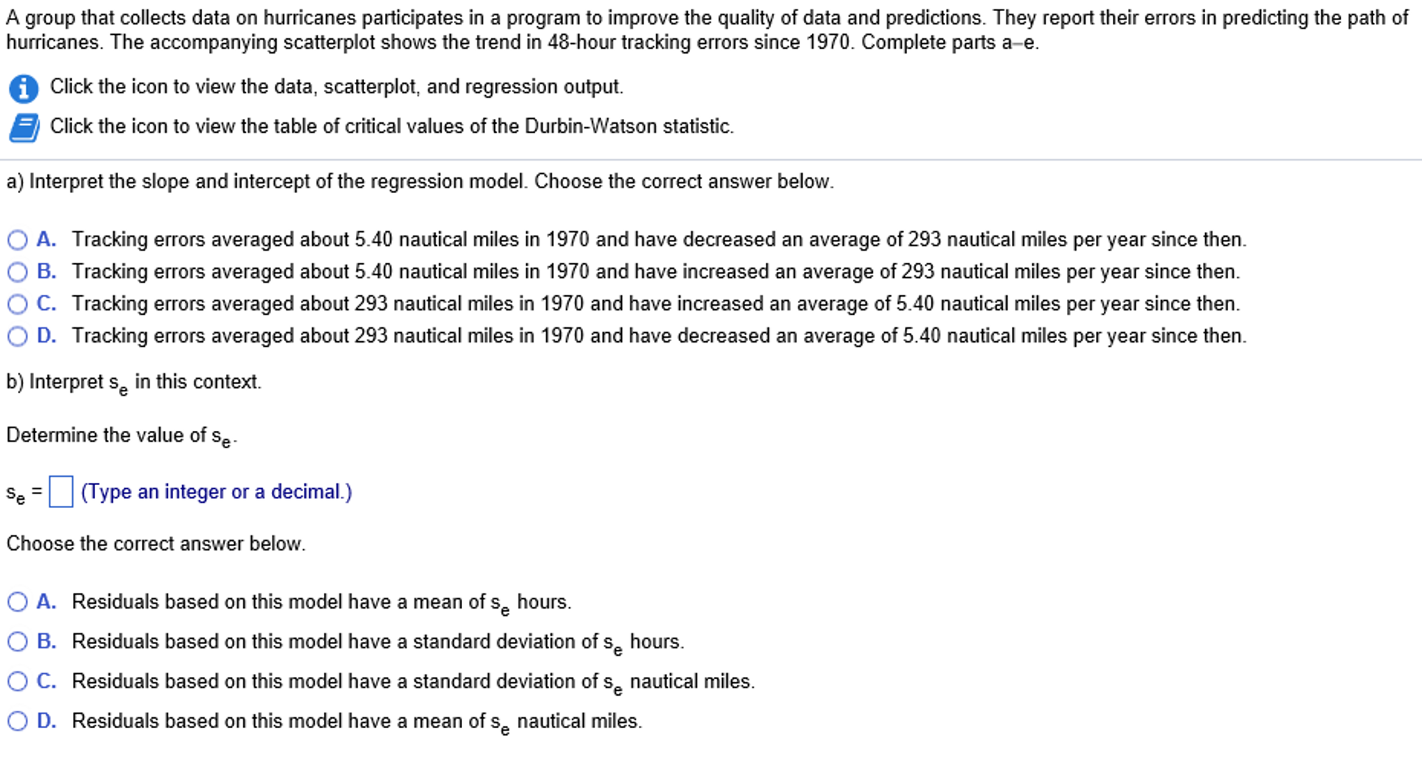 5 100 Years Since 1970 Dependent Variable Is: Error 1536 2824 Rsquared=  701% S= 4183 Variable Intercept 293329 Years1970 54