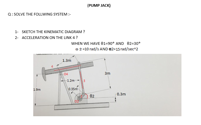 solved pump jack q solve the follwing system 1 sket rh chegg com pump jack parts diagram pallet jack pump diagram