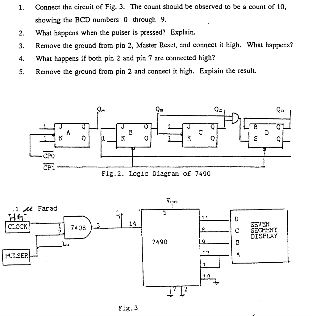 Logic Diagram 7490 Wiring Library Circuit Binary Up Counter 4026 Digital Connect The Of Fig 3 Count Should Be Observed To