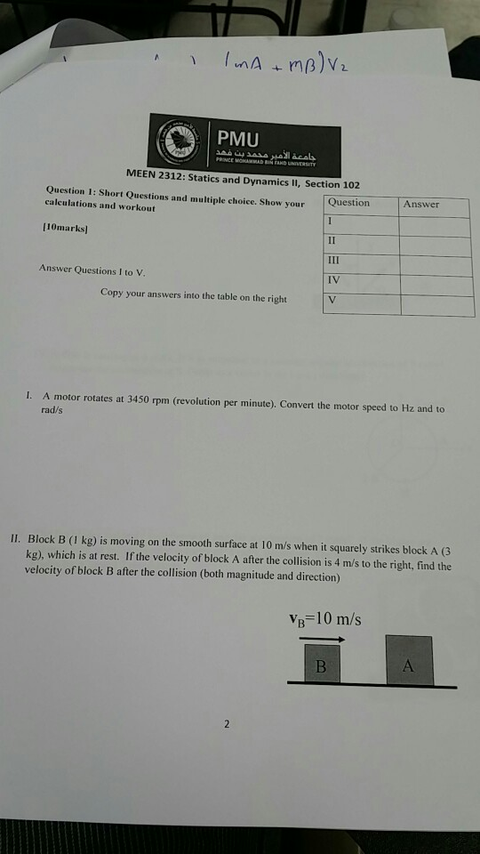 Solved: Short Questions And Multiple Choice  Show Your Cal