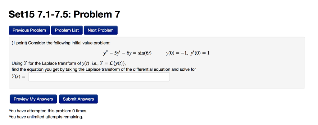 Solved: Set15 7.1-7.5: Problem 7 Previous Problem Problem ...
