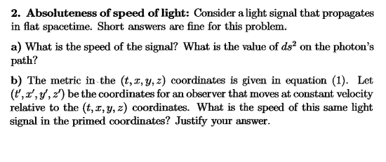 Advanced physics archive september 25 2017 chegg absoluteness of speed of light consider a light signal that propagates in flat fandeluxe Image collections
