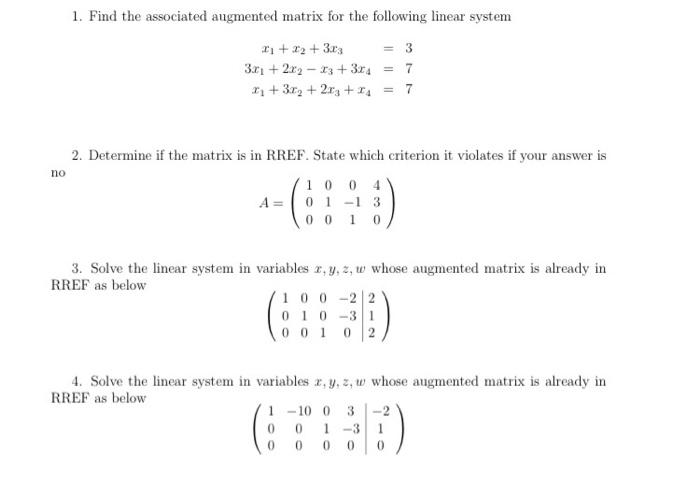 need help these linear algebra questions com need help these linear algebra questions