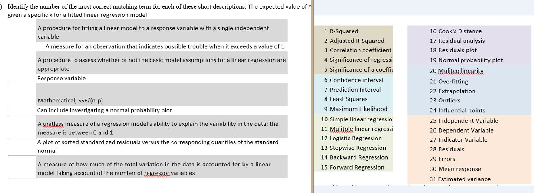 Statistics and probability archive july 30 2015 chegg identify the number of the most correct matching t biocorpaavc