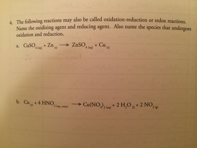Solved: The Following Reactions May Also Be Called Oxidati