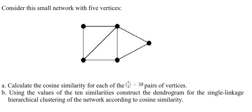 Consider This Small Network With Five Vertices: A     | Chegg com
