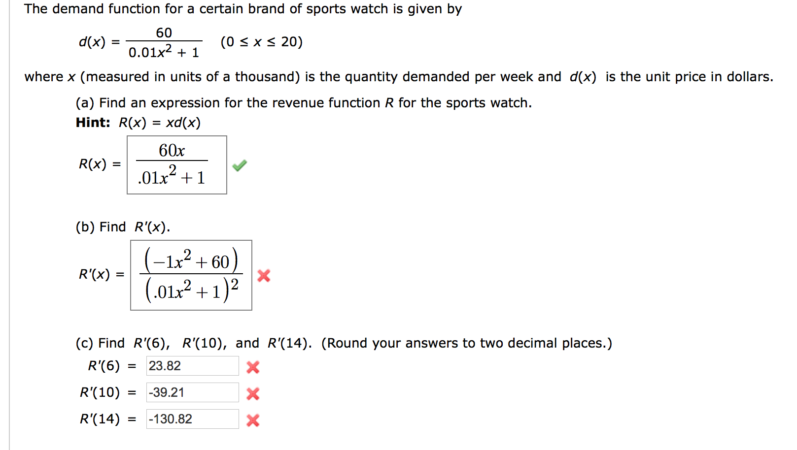 Solved: The Demand Function For A Certain Brand Of Sports