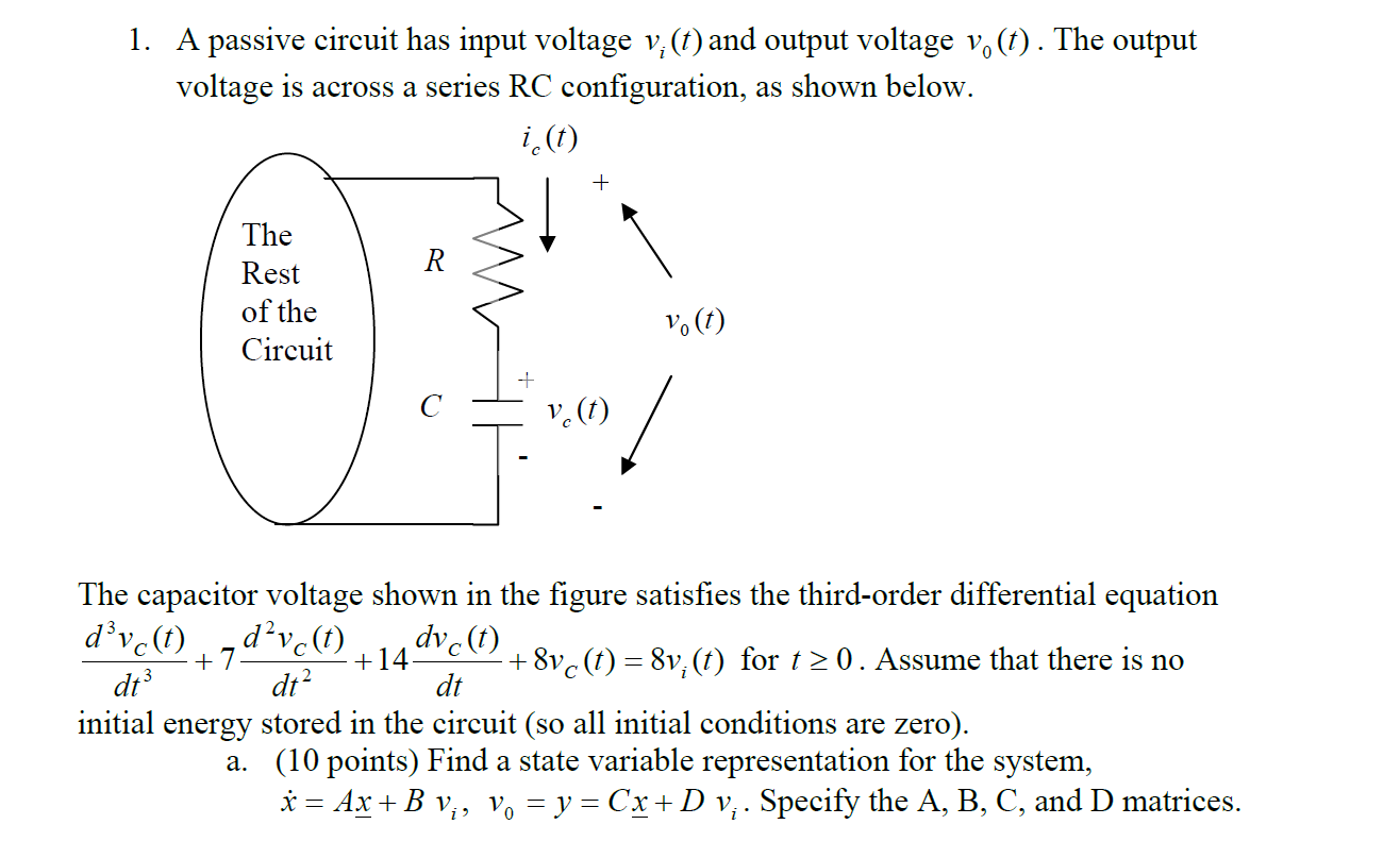 Equation For Energy D In A Capacitor Ace Charging Circuit Solved The Voltage Shown Figure Satisfie