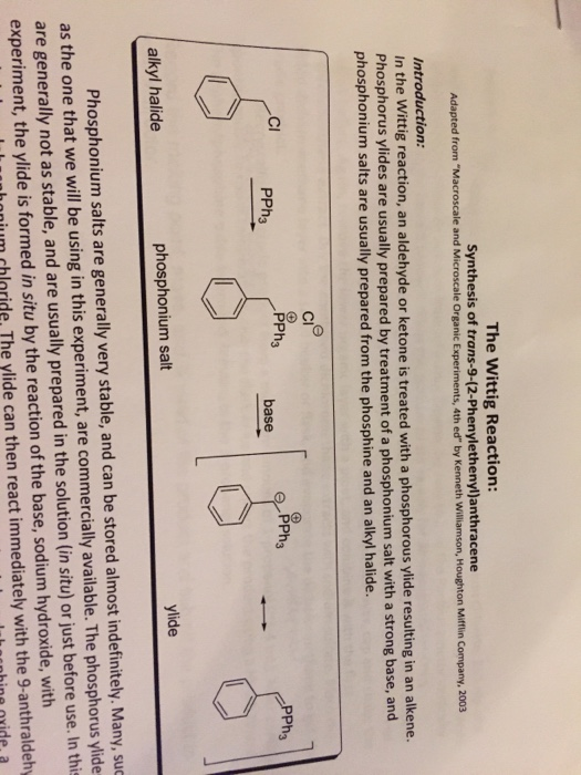 Organic Chemistry II LabExperiment The Witting Re