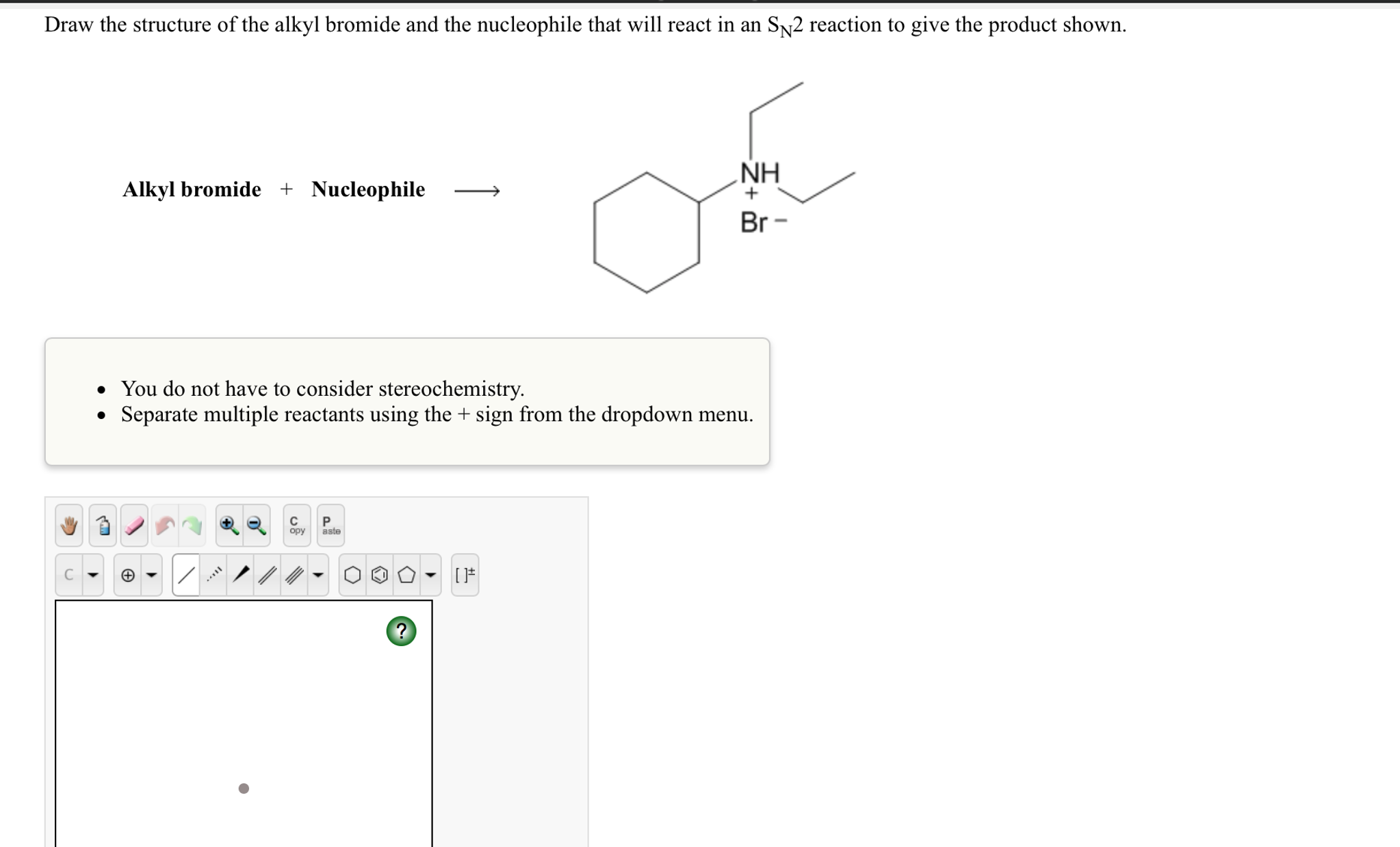Solved: Draw The Structure Of The Alkyl Bromide And The Nu