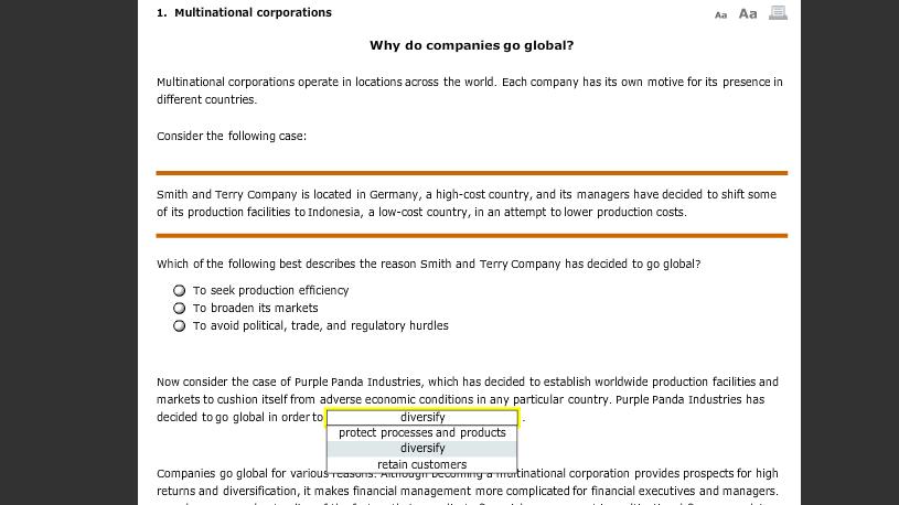 why do companies go global