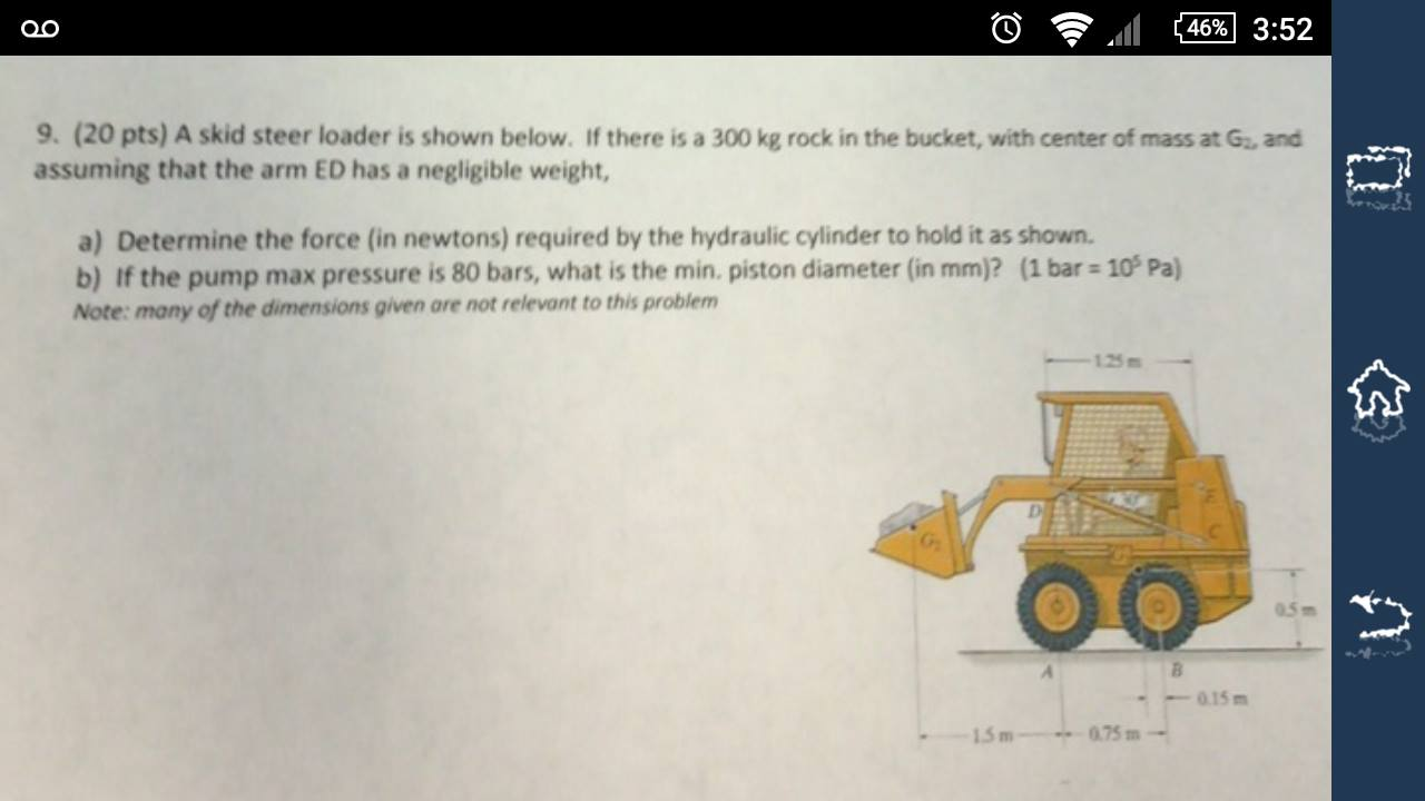What Is A Skid >> Solved A Skid Steer Loader Is Shown Below If There Is A
