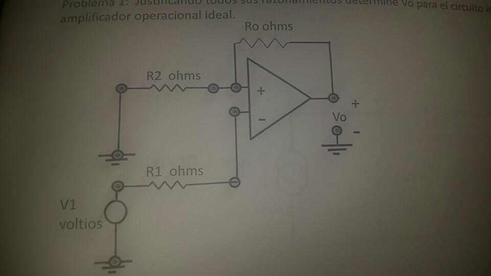 Circuito Operacional : Solved ueterftilhe vo para el circuito amplificador opera