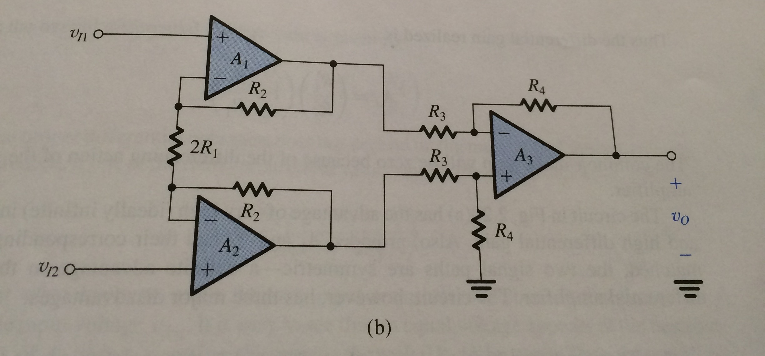 Solved Design The Instrumentation Amplifier Circuit Of Fi Diagram 3 2