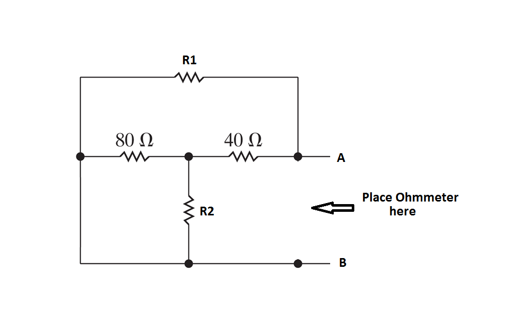 Solved: For The Circuit Diagram Shown Determine The Resist ... on