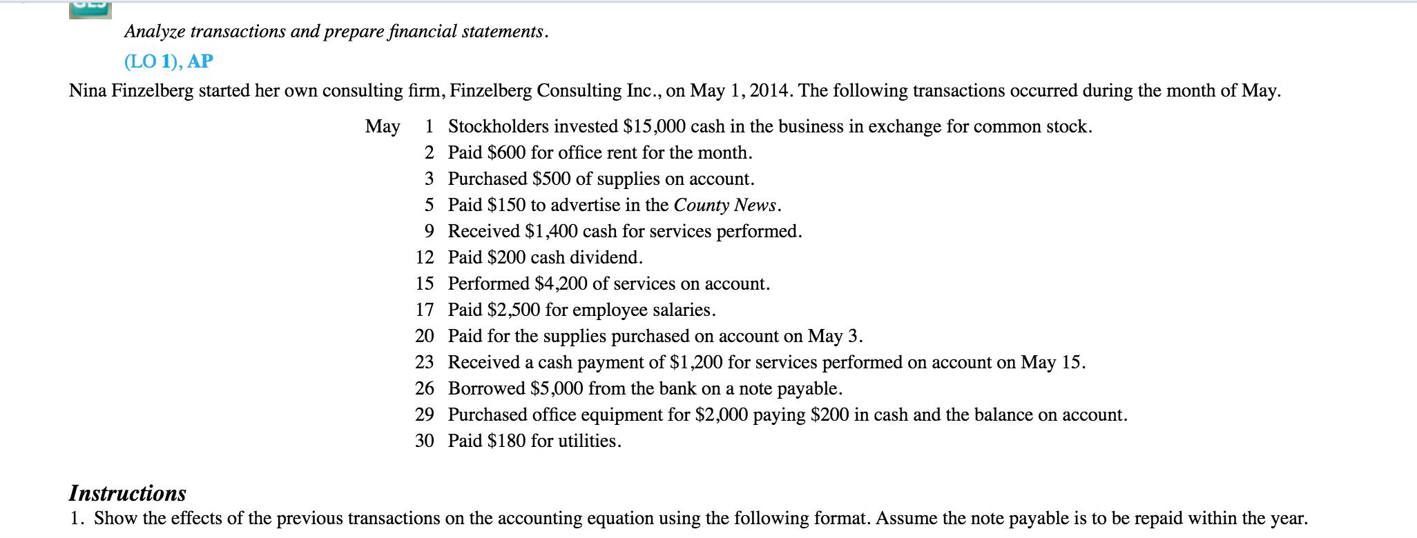 prepare financial statement