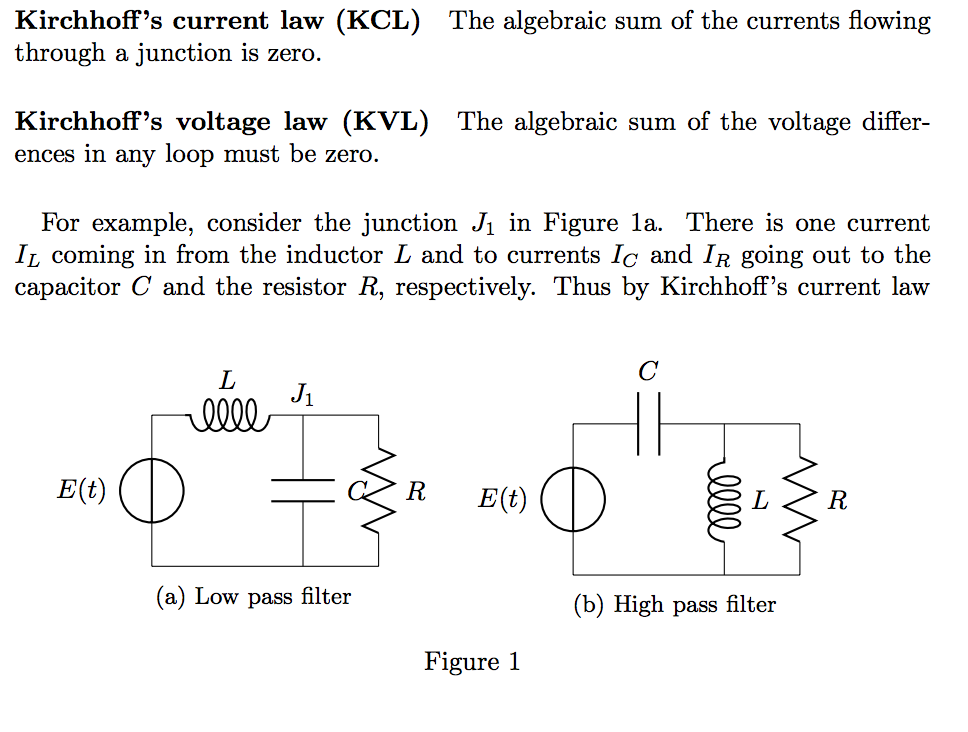 solved kirchhoff\u0027s current law (kcl) through a junction ikirchhoffs current law (kcl) through a junction is zero the algebraic sum of the