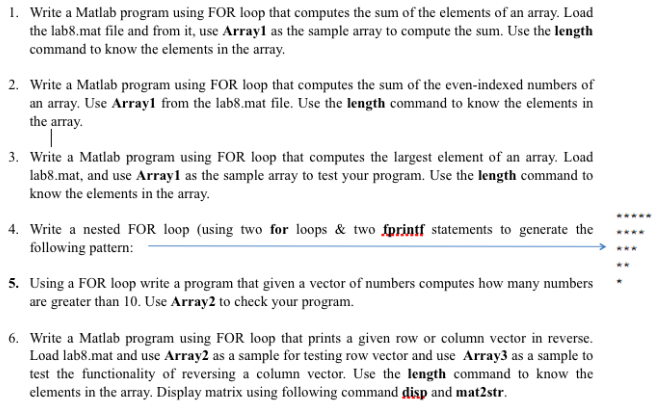 Solved: Write A Matlab Program Using FOR Loop That Compute
