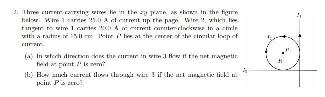 Solved: 2. Three Current-carrying Wires Lie In The Ry Plan ... on special a plane, how much is 3 figures, how planes fly,
