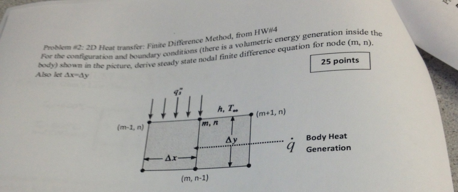 Solved: 2D Heat Transfer: Finite Difference Method, From H