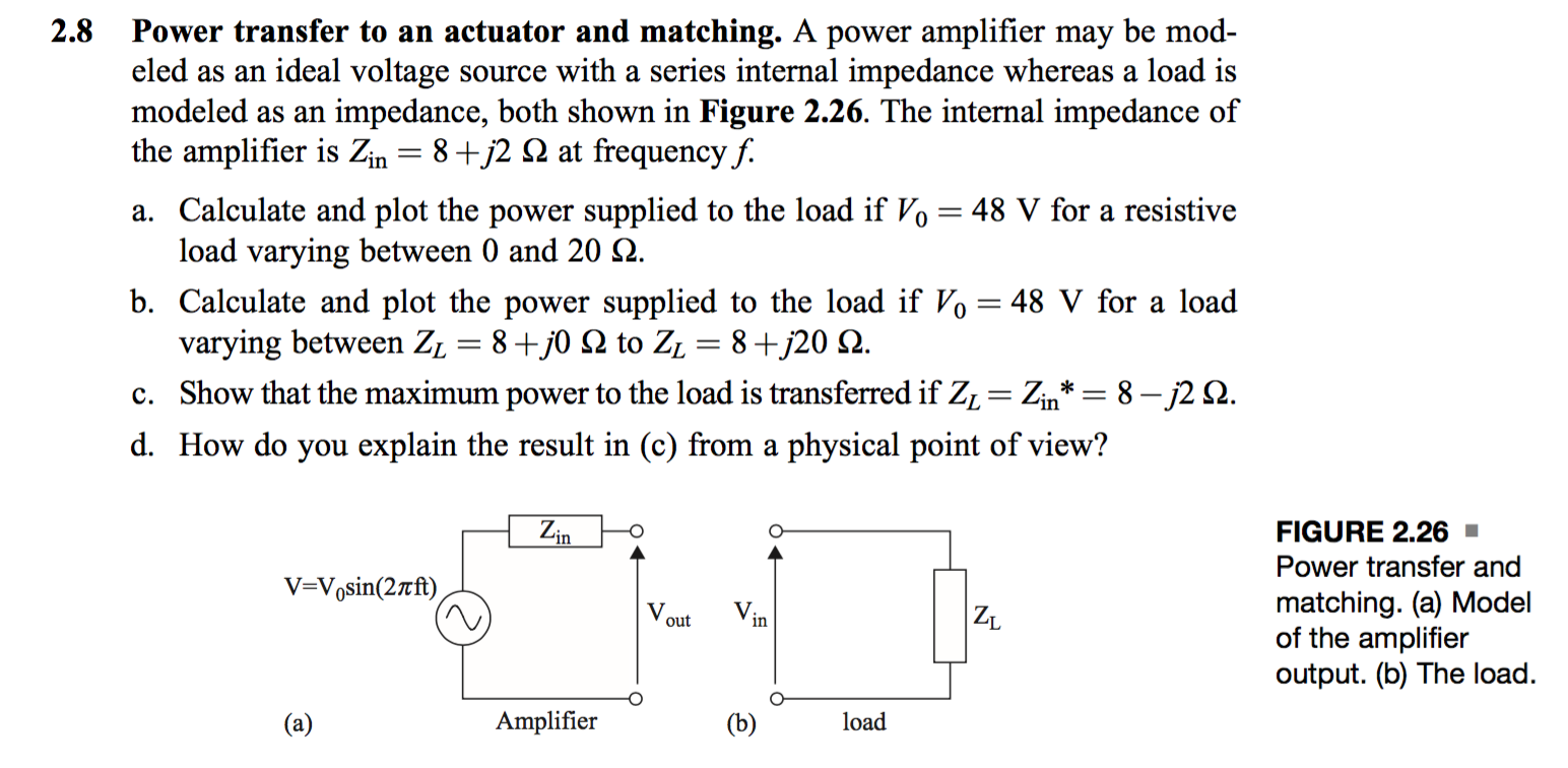 Solved A Power Amplifier May Be Modeled As An Ideal Volta Series Ac Circuit With Resistive Loads