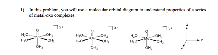 Solved In This Problem You Will Use A Molecular Orbital