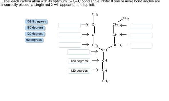 Solved: Label Each Carbon Atom With Its Optimum C–C–C Bond