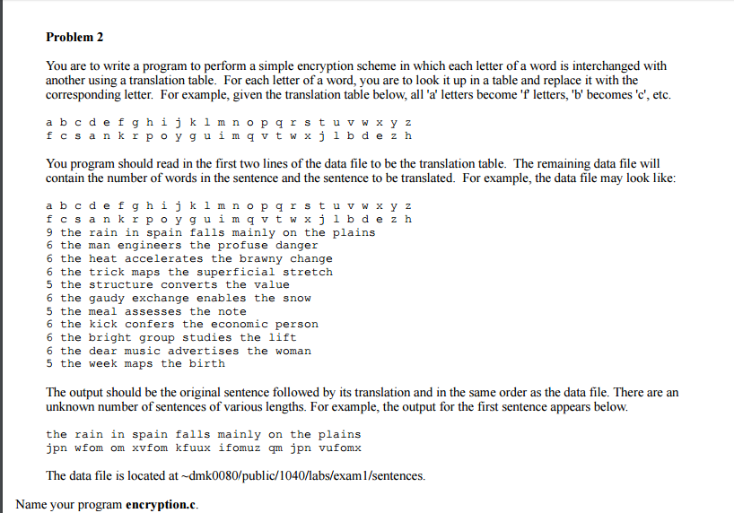 Solved You Are To Write A Program To Perform A Simple Enc