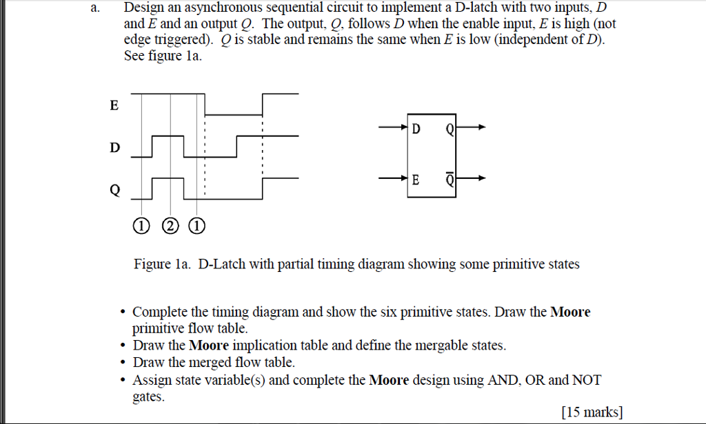 Design an asynchronous sequential circuit to imple chegg design an asynchronous sequential circuit to implement a d latch with two inputs d ccuart Choice Image